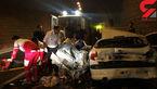 مچاله شدن عجیب 2 خودرو مقابل بیمارستانی در اردبیل ! + عکس