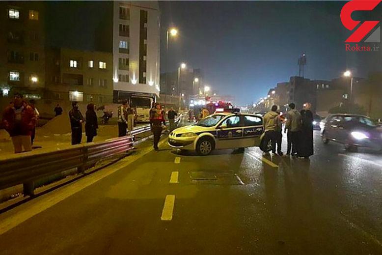 تصادف در بزرگراه شهید باکری
