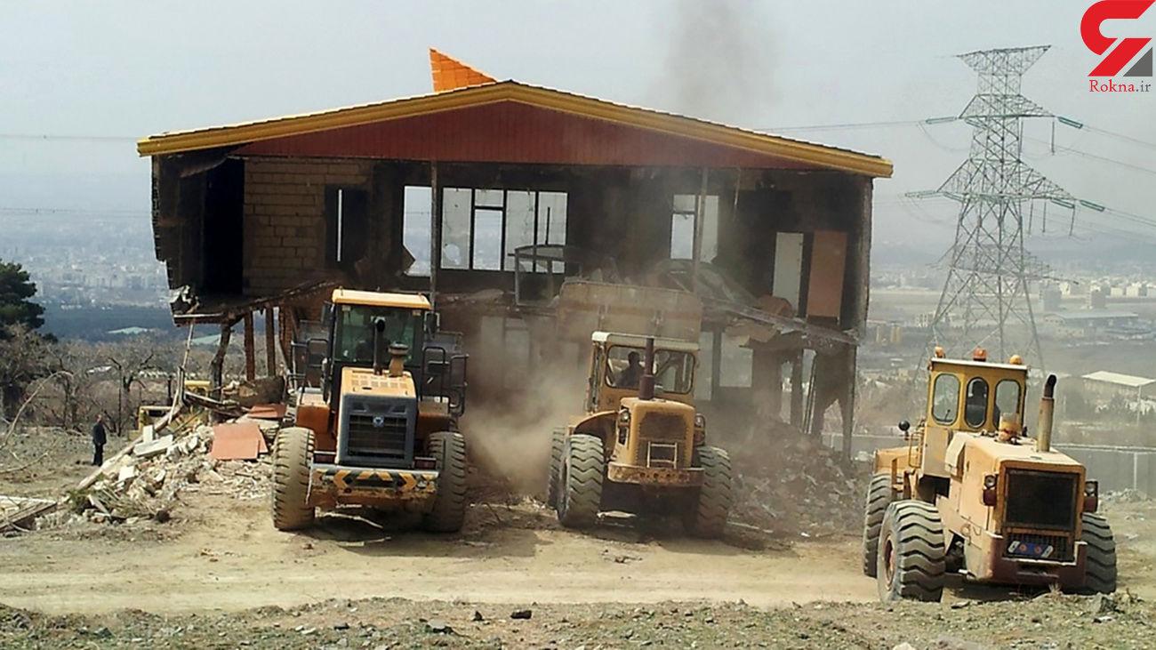 تخریب 24 بنای غیر مجاز در زمینهای کشاورزی جویبار