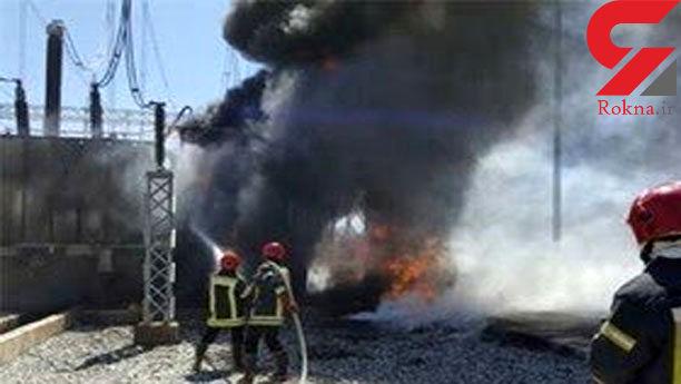 مهار آتش سوزی واحد شماره یک نیروگاه رامین اهواز