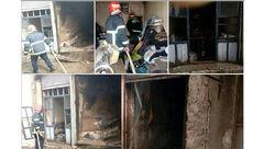 آتش سوزی در سوله ۴۵۰ متری در چهاردانگه/یک آتش نشان مصدوم شد