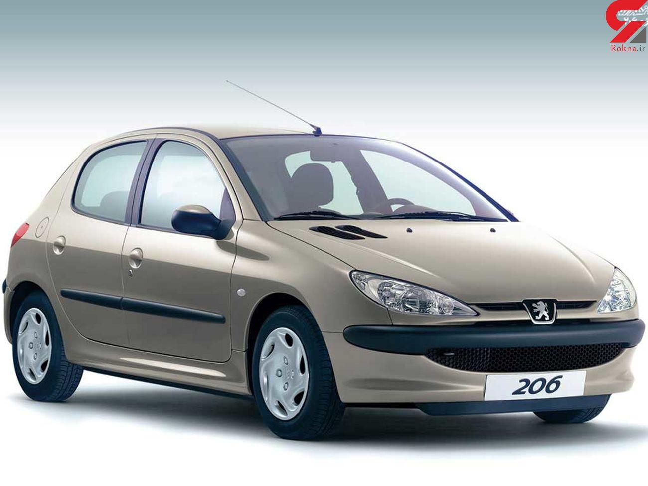 قیمت پژو 206 ، سمند ال ایکس، رانا، تیبا و دیگر خودروها در بازار