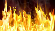 محبوس شدن 3 نفر در اثر آتش سوزی حیاط یک ساختمان در قزوین