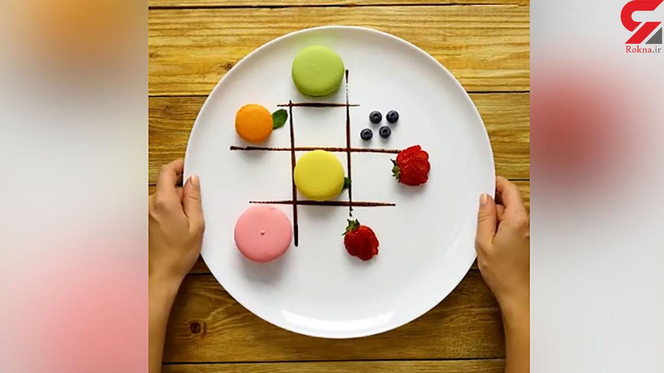 تزئین ظرف خوراکی + فیلم