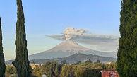 آتشفشانی از جمجمه در آسمان مکزیک + عکس