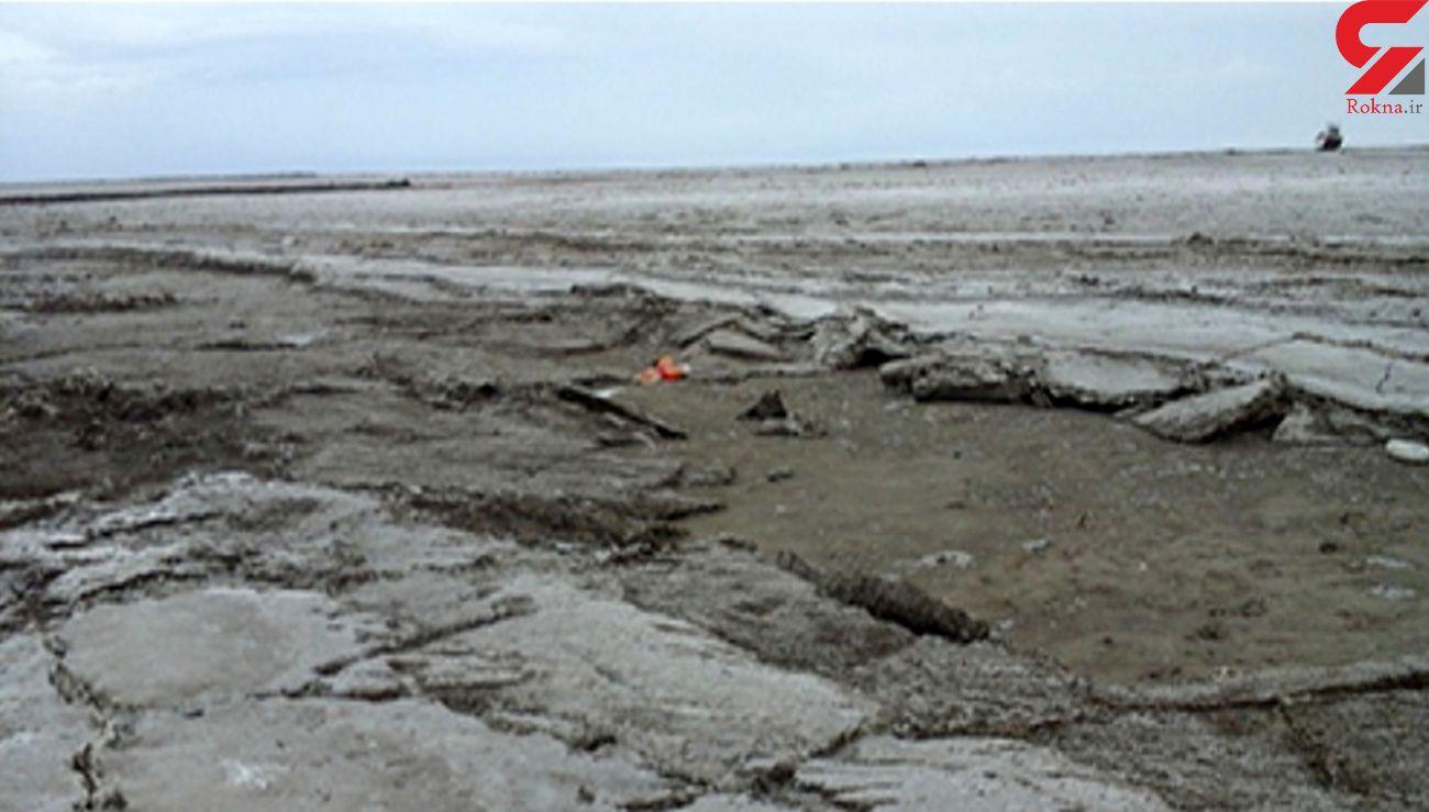 سطح تراز آب دریاچه ارومیه ۶۰ درصد کاهش یافت
