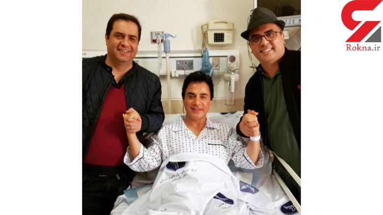 عموپورنگ در بیمارستان بسترى شد + عکس