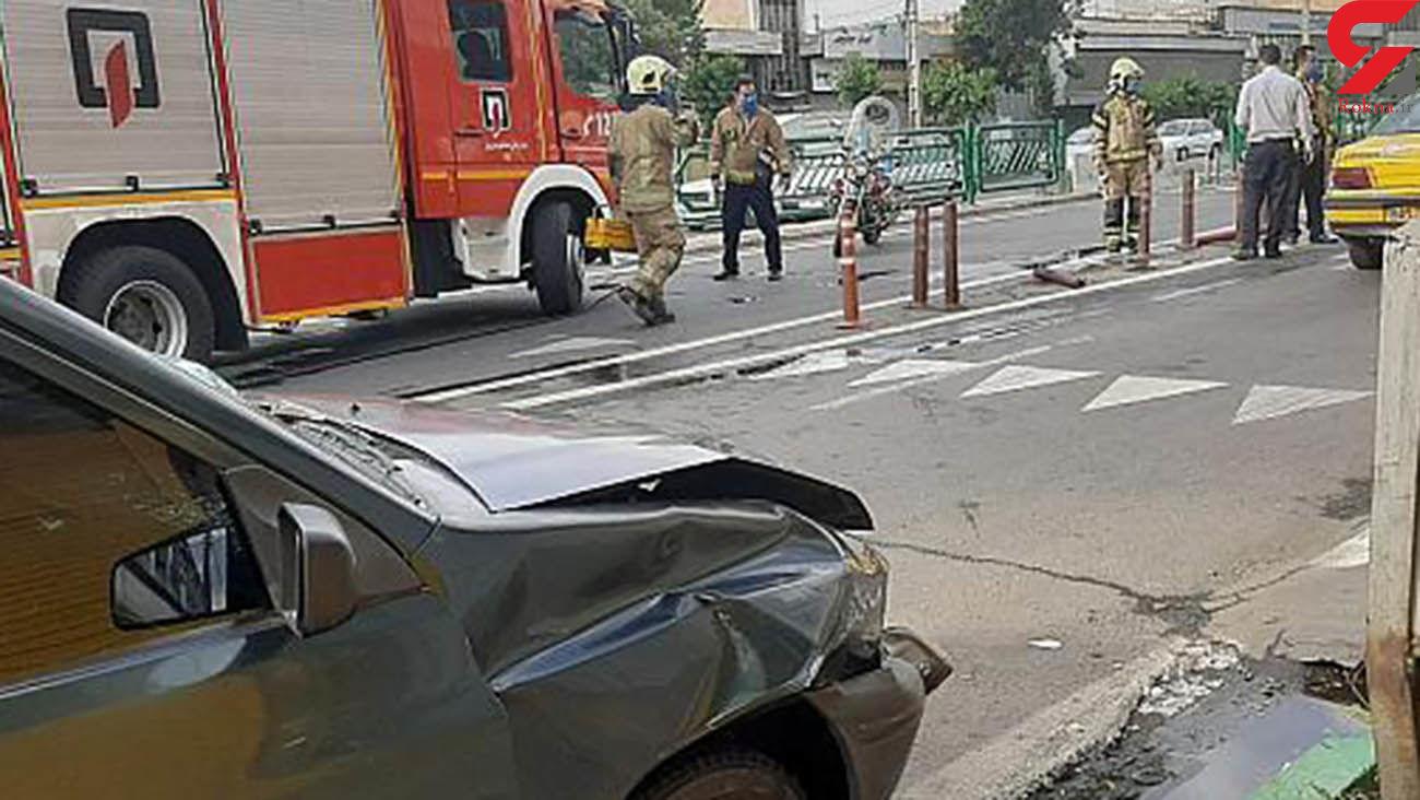 عکس تصادف در سه راه آذری تهران