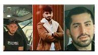 عکس 3 مرد جوان که در ساری کشته شدند