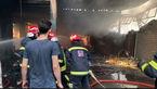 مهار آتش سوزی کارخانه تولید درب سلماس