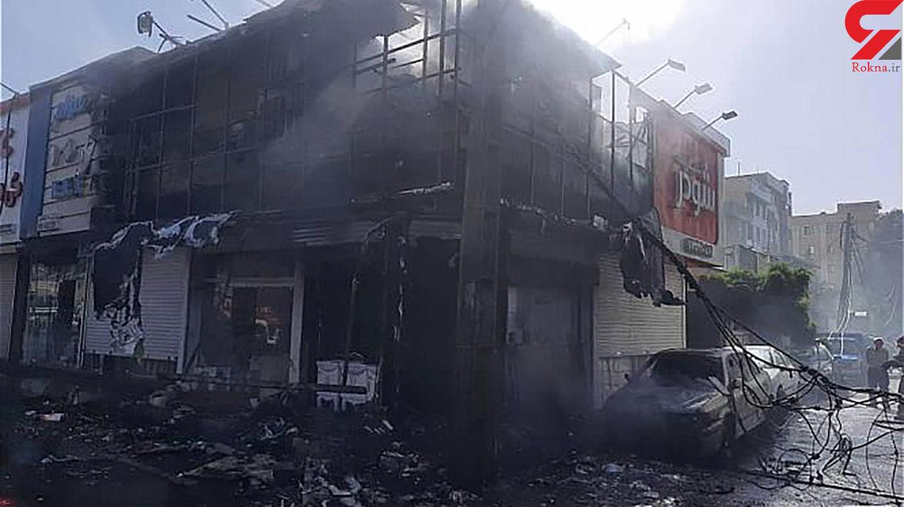 جزئیات آتش سوزی در خیابان بنی هاشم تهران + عکس