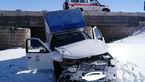 2 مصدوم در حادثه رانندگی در محور مشهد - تربت حیدریه + عکس