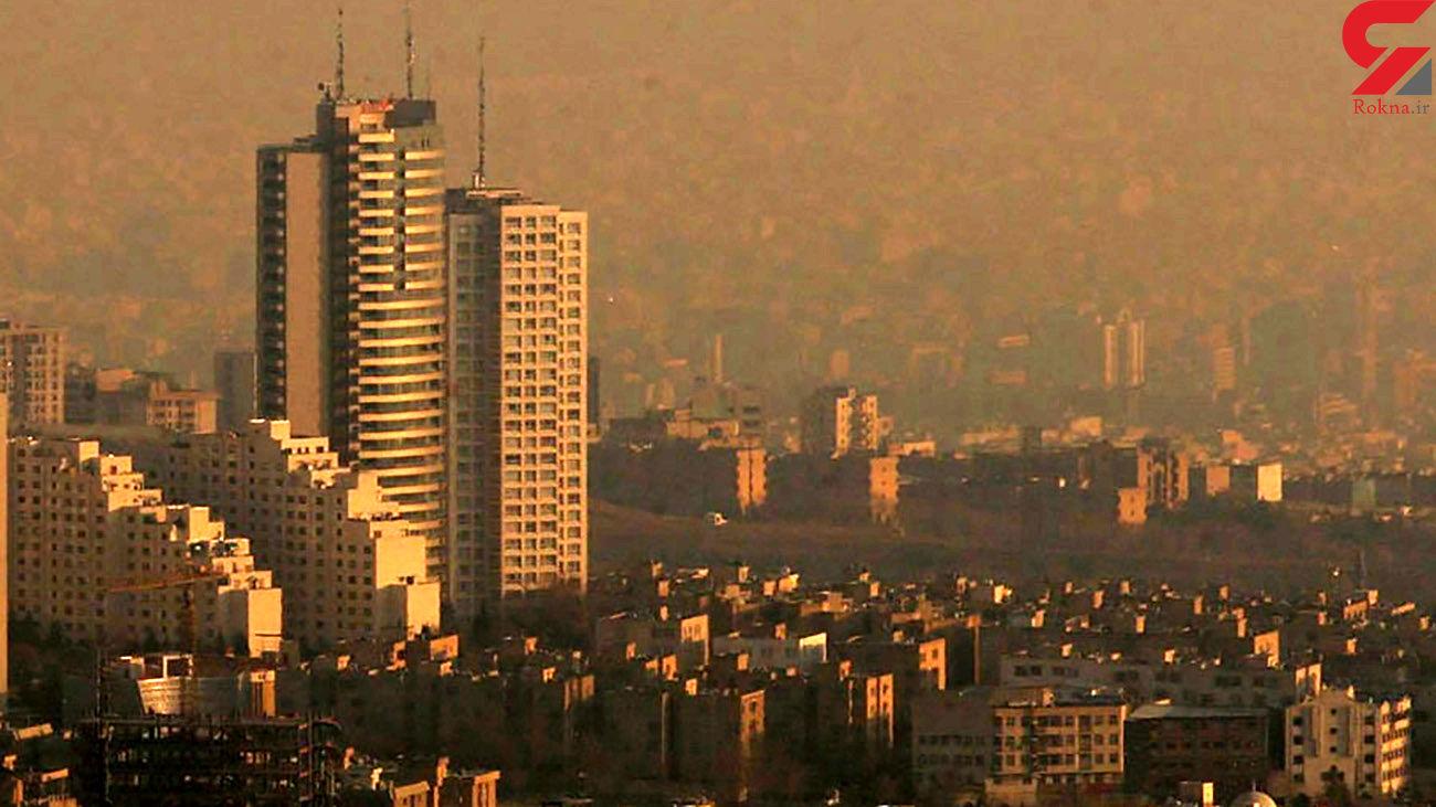 هوای تهران برای گروه های حساس  ناسالم