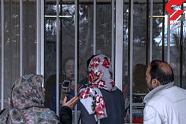 تصویر تلخ از لحظه دیدار خانواده های 2 فرد مشکوک به کرونا در قرنطینه یافت آباد