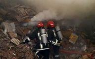 آتشسوزی کارگاه دپوی ضایعات لاستیک در شهر رباط کریم اطفاء شد