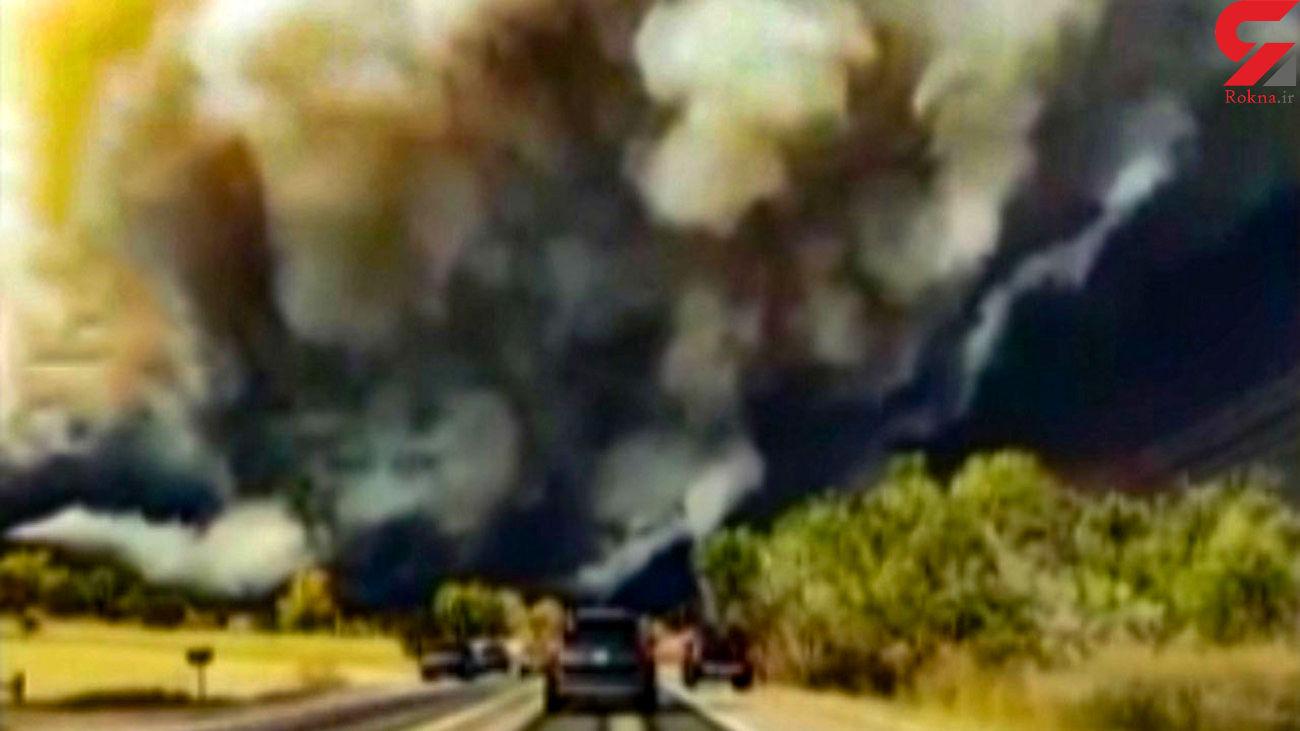 آتش سوزی گسترده در جنگلهای آمریکا + فیلم