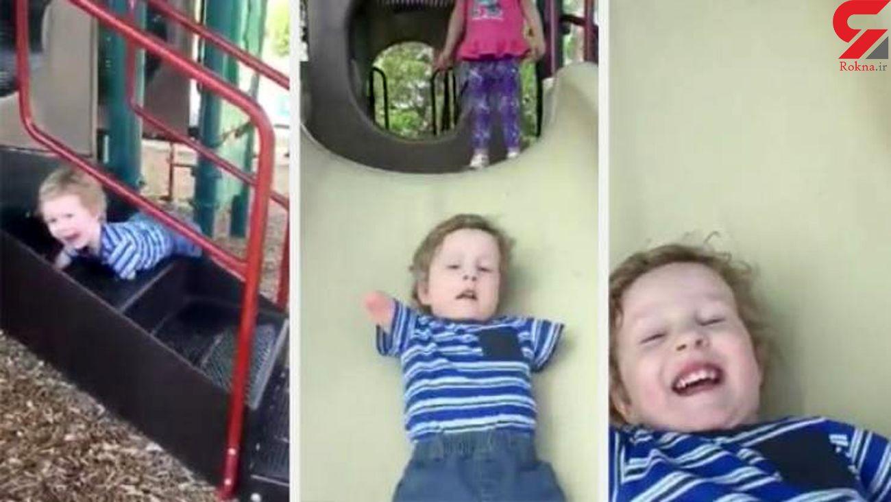 حرکت شگفت انگیز پسر 3 ساله معلول / مادرش به او کمک نکرد + فیلم