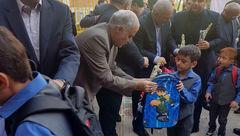 هدیه عجیب شهردار تهران به دانش آموزان + عکس