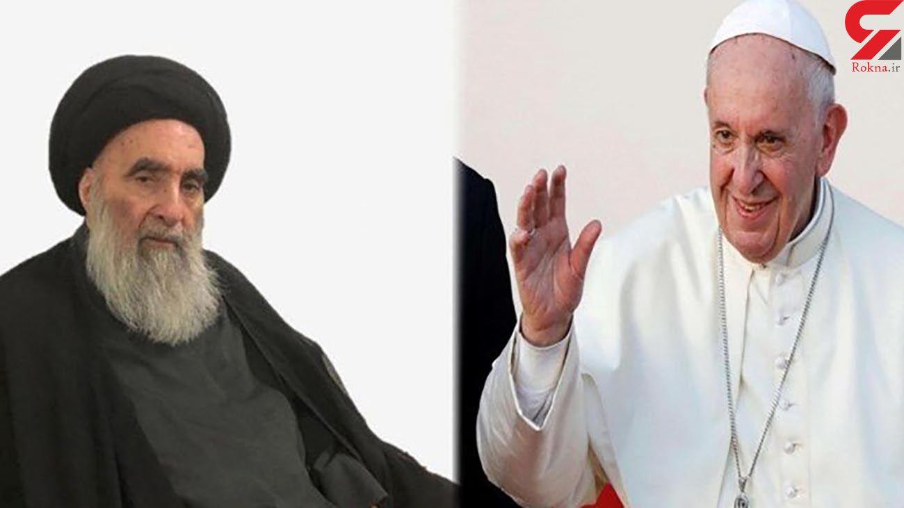 جزئیاتی از دیدار تاریخی پاپ و آیتالله سیستانی + فیلم و عکس