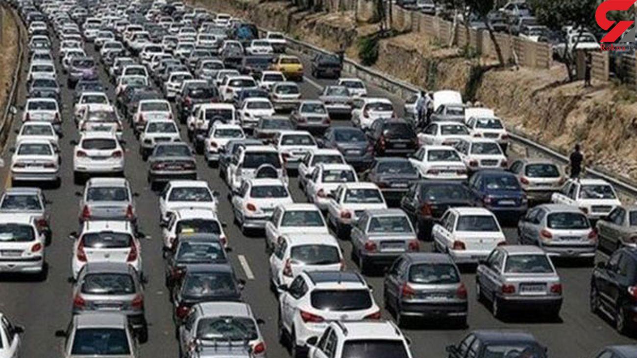 ترافیک سنگین صبحگاهی در محورهای بزرگراهی پایتخت