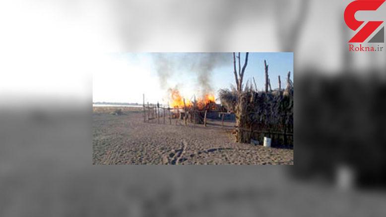 مرگ دردناک کودک ۱۰ ساله در آتش سوزی کپر / در عنبرآباد رخ داد