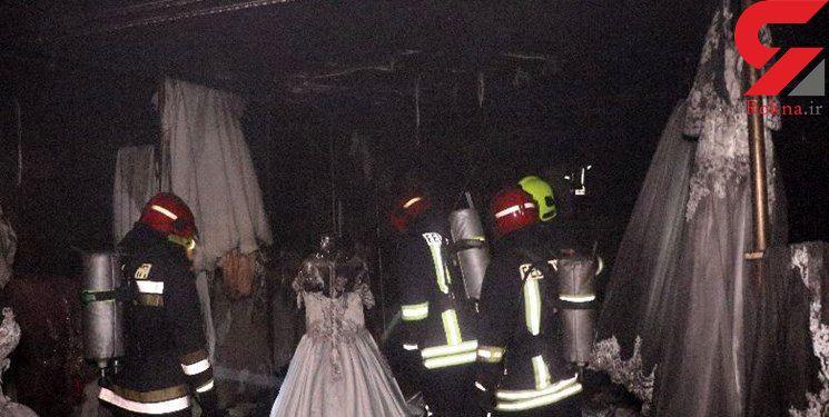 سوختن عروس های سفید پوش در آتش سوزی مزون / در مشهد رخ داد