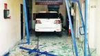ماشین شاسی بلند نگهبان را کشت و وارد صرافی شد!+عکس