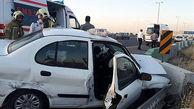 تصادف زنجیرهای در بلوار ایران خودرو تهران