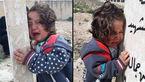 گریه سوزناک دختربچه سوری بر سر مزار پدرش + عکس