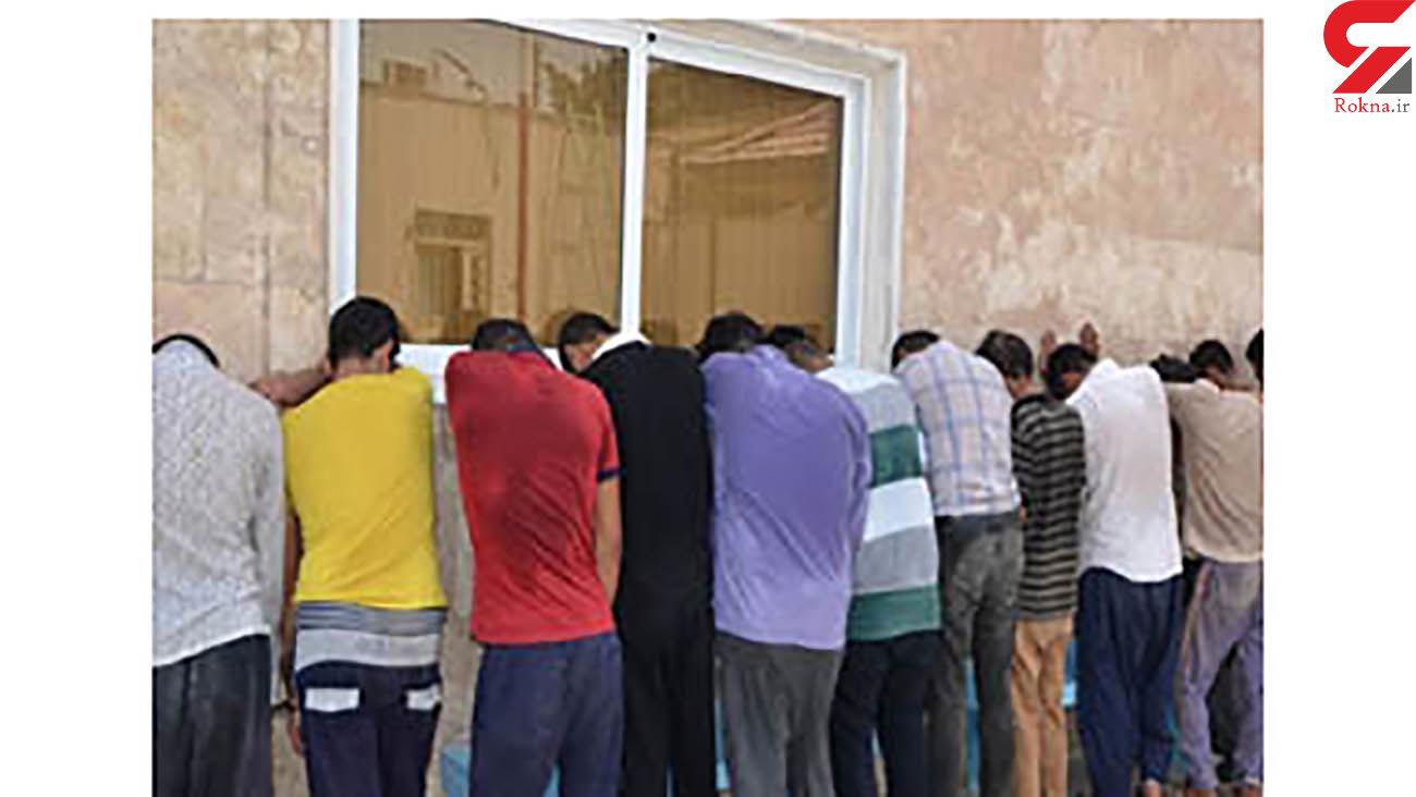 دستگیری اراذل و اوباش در فردیس