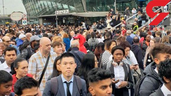 تخلیه یک ایستگاه مترو و مرکز خرید در شرق لندن+تصاویر
