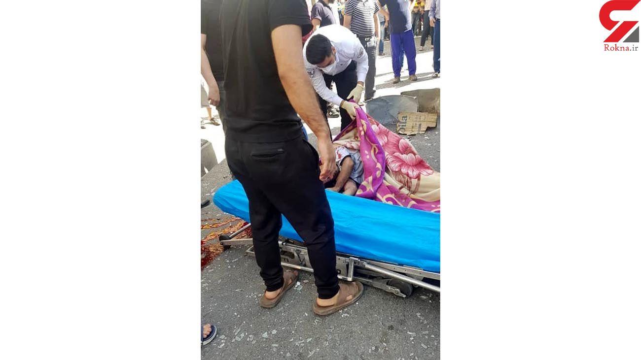 زنده زنده سوختن مرد جوان در انفجار تهرانپارس / صبح امروز رخ داد + عکس ها