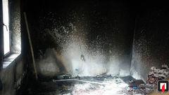 بخاری برقی اتاقک کارگری را به آتش کشید + عکس