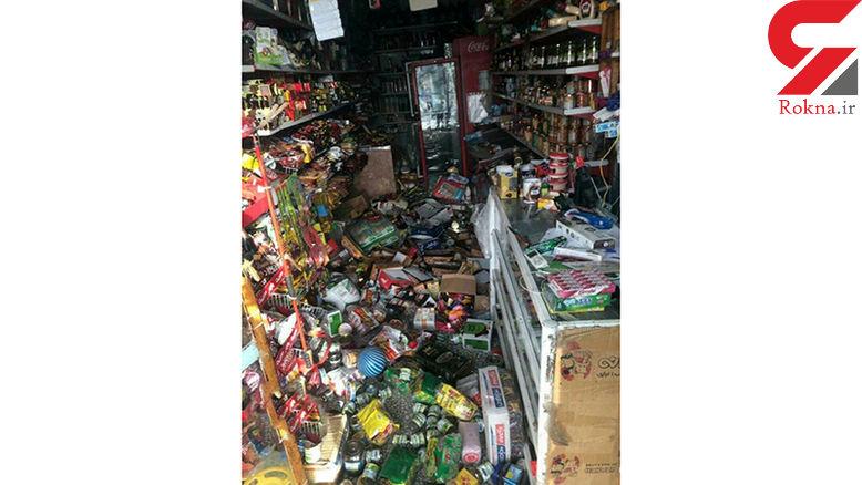 اولین فیلم از وضعیت یک مغازه بعداز زلزله هرمزگان + عکس