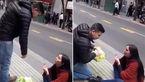 خواستگاری ملتمسانه یک دختر از همکلاسیاش در وسط خیابان + فیلم