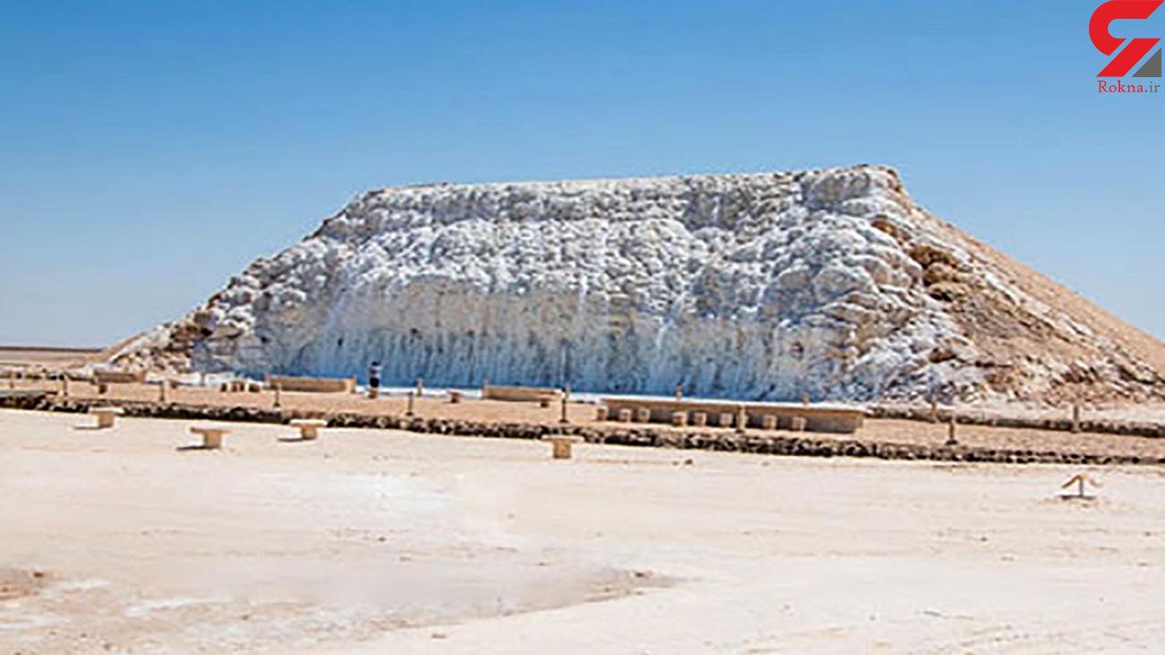اولین آبشار نمکی در جهان را ببینید / کجای ایران قرار دارد!+ فیلم