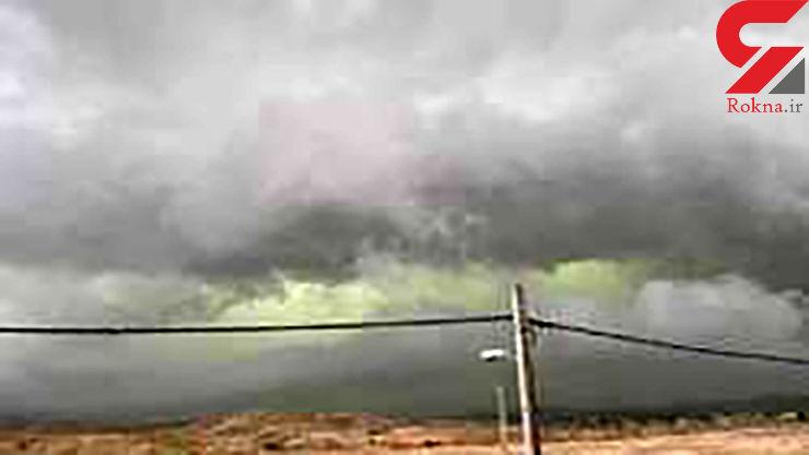 ناگفته های یک کارشناس از ابرهای عجیب سبز رنگ در آسمان استان فارس + فیلم