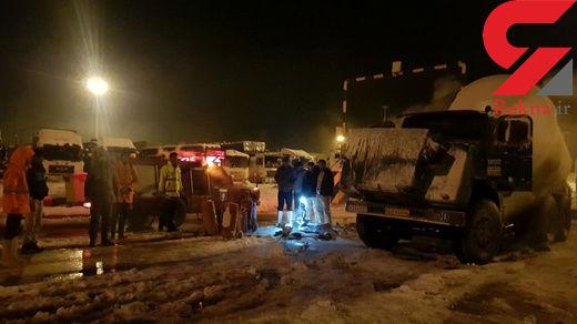 آتش گرفتن یک دستگاه کامیون حامل گاز مایع در دوغارون