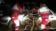 4 سرنشین این زانتیا از تصادف عجیب جان سالم به در بردند