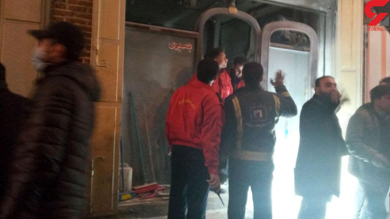 آتش سوزی در بازار تاریخی تبریز /  یک زن 26 ساله آتش گرفت + عکس