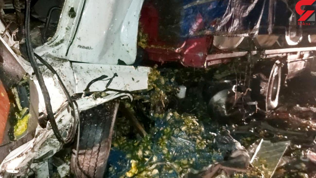 تصادف خودروهای سنگین در سمنان با 3 کشته و مصدوم + عکس