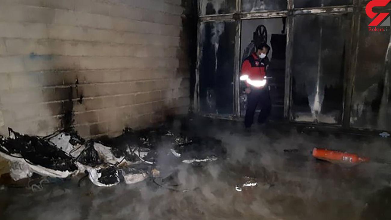 آتشسوزی در ساختمان نیمهکاره / در زنجان رخ داد
