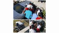 خستگی و خواب آلودگی راننده باعث کشته و زخمی شدن ۵نفر شد+عکس