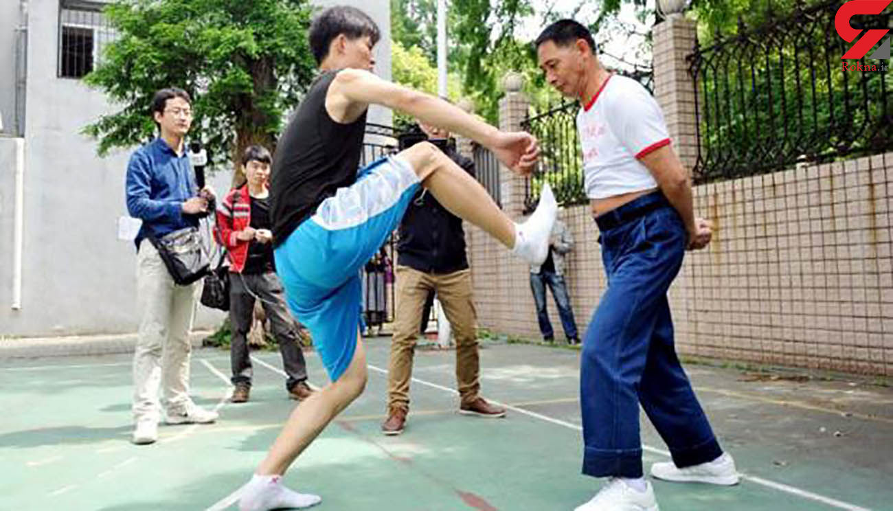 شغل این مرد کتک خوردن است ! + عکس /چین