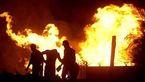انفجار بر اثر تصادف خودرو با علمک گاز در اهواز