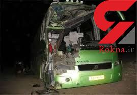یک کشته و 25 زخمی در حادثه واژگونی اتوبوس در تربت حیدریه