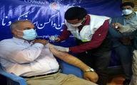 اولین دُز واکسن برکت در سیستان و بلوچستان را استاندار دریافت کرد