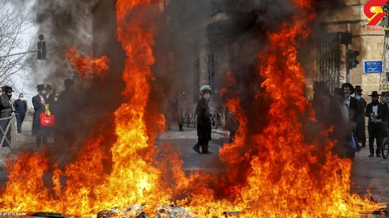 درگیری یهودیان تندرو با نظامیان اسرائیلی