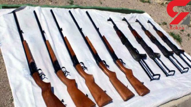 کشف محموله قاچاق سلاح توسط رزمندگان تیپ امیرالمومنین(ع)