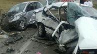 تصادف زنجیرهای در جاده بیضاء ۱۴ مصدوم داشت